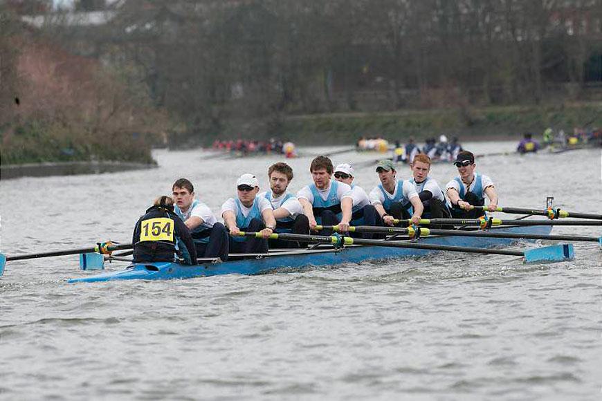 Left to right: Tammy Finnigan (cox), Dom Chapman (club men's captain), Josh Dexter, Huw Jarman, Max Taylor, Edd Maryon, Tom Dolby, Tim Halliday and Adam Williams.