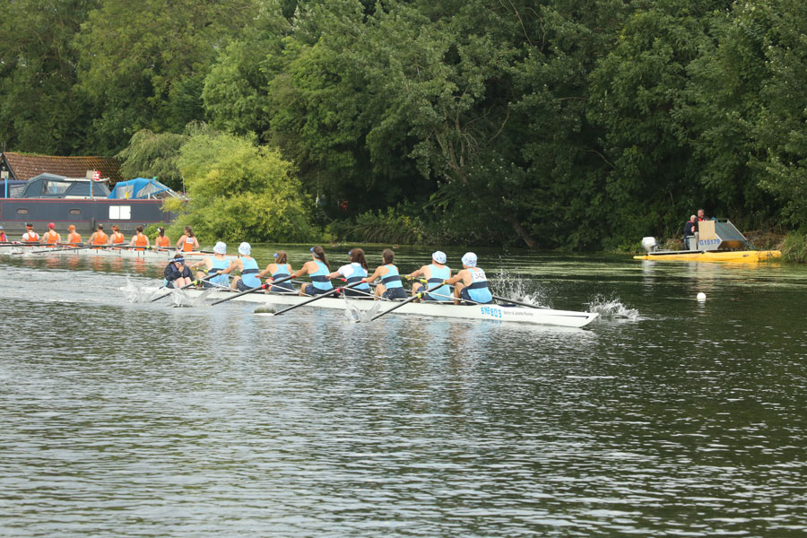The winning mixed eight crew from St Neots